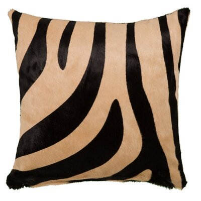 Zebra Throw Pillow Size: 18 x 18