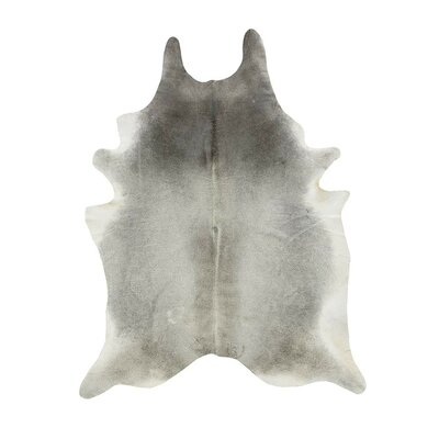 Cowhide Gray/Tan Area Rug Rug Size: 6 x 6