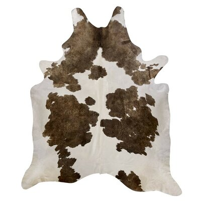 Cowhide Sand/White Area Rug Rug Size: 66 x 76