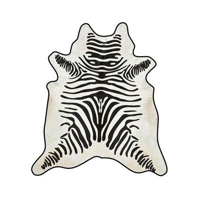 Zebra Cowhide Black/White Area Rug