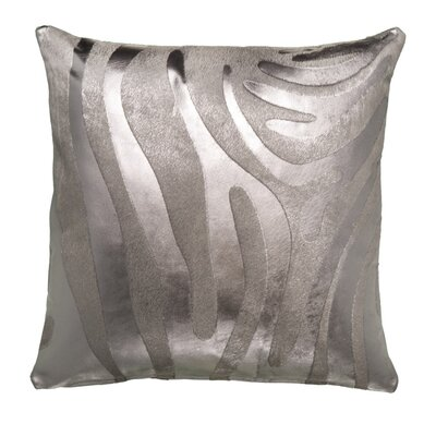 Zebra Devore Throw Pillow Size: 22 x 22