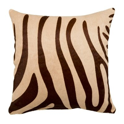 Zebra Throw Pillow Size: 22 x 22
