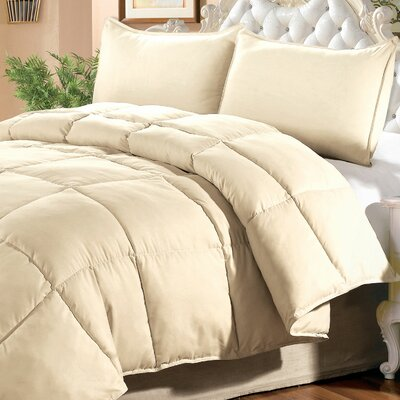Down Alternative 3 Piece Comforter Set Size: King, Color: Angora