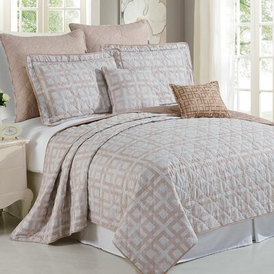 Austin Geo 7 Piece Coverlet Set Size: Queen
