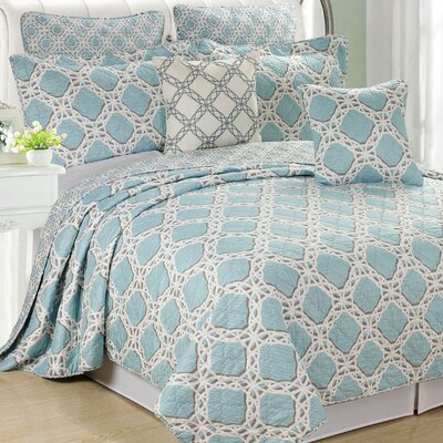 Monroe 7 Piece Coverlet Set Size: Queen