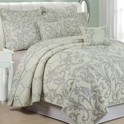 Marisol 7 Piece Quilted Coverlet Set Size: King