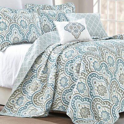 Tivoli 5 Piece Reversible Quilt Set Size: King