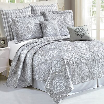 Melody 7 Piece Coverlet Set Size: Queen
