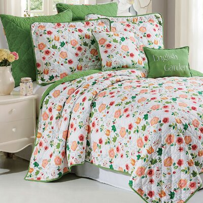 English Garden 7 Piece Coverlet Set Size: King