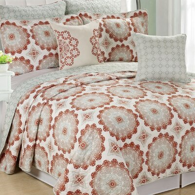 Delia 7 Piece Coverlet Set Size: King