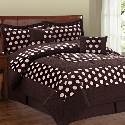 Big Dots 6 Piece Comforter Set Size: King
