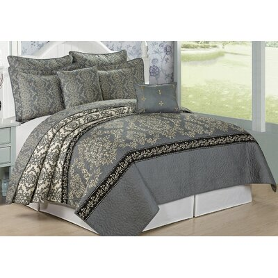 Mystic 7 Piece Coverlet Set Size: Queen