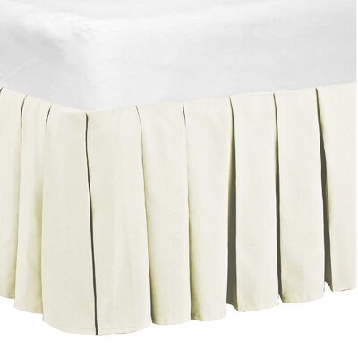 Classic Dust Ruffle Bed Skirt Size: King, Color: Ivory
