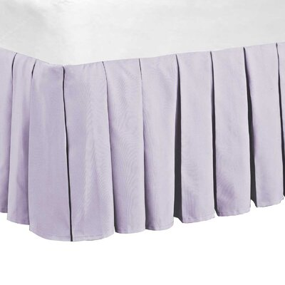 Classic Dust Ruffle Bed Skirt Color: Lilac, Size: Queen