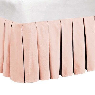 Classic Dust Ruffle Bed Skirt Size: King, Color: Light Pink