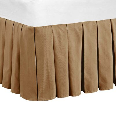 Classic Dust Ruffle Bed Skirt Color: Light Camel, Size: Queen