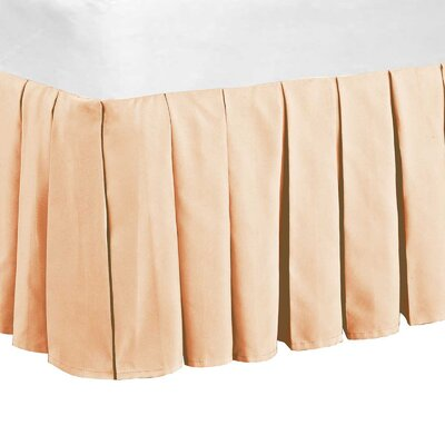 Classic Dust Ruffle Bed Skirt Color: Salmon, Size: Queen