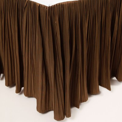Pleat Bed Skirt Color: Chocolate, Size: King