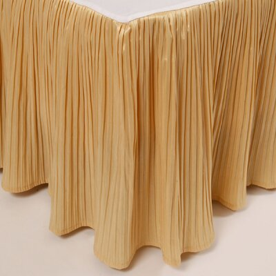 Pleat Bed Skirt Color: Gold, Size: King