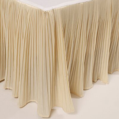 Pleat Bed Skirt Color: Ivory, Size: Queen