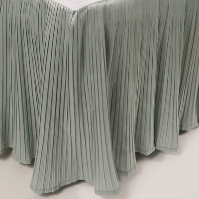Pleat Bed Skirt Color: Silver Blue, Size: Queen
