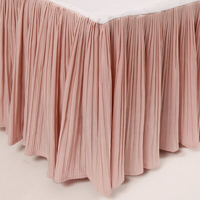 Pleat Bed Skirt Color: Pink, Size: Queen
