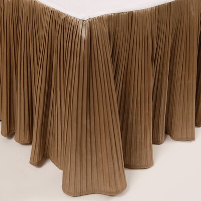 Pleat Bed Skirt Size: King, Color: Taupe