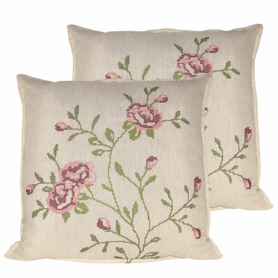 Rose Throw Pillow Color: Light Pink