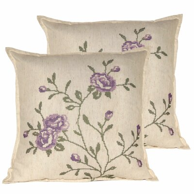 Rose Throw Pillow Color: Lilac