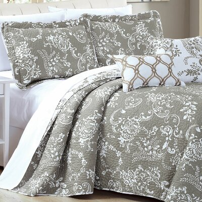 LA Boheme 5 Piece Quilt Set Size: King