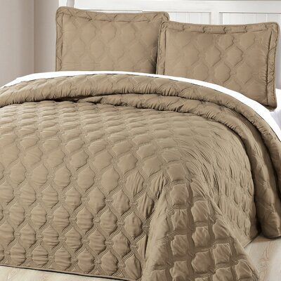Bradly 3 Piece Coverlet Set Color: Antique Bronze, Size: King