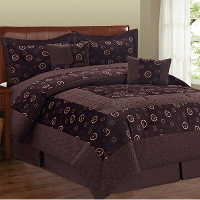 Peace Sign 6 Piece Comforter Set Size: King