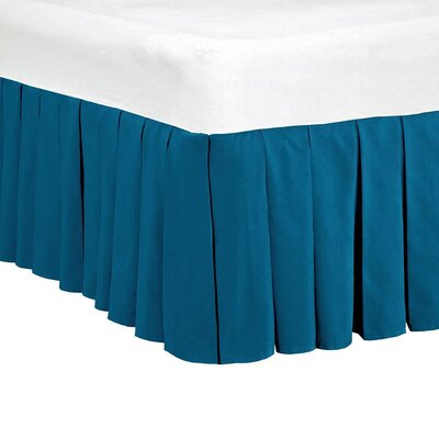 Classic Dust Ruffle Bed Skirt Size: King, Color: Deep Water Blue