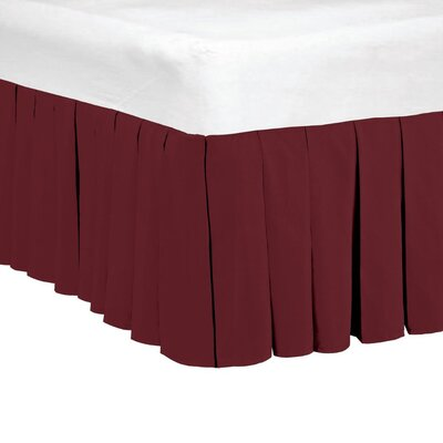 Classic Dust Ruffle Bed Skirt Size: King, Color: Ruby Wine