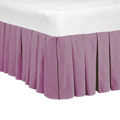 Classic Dust Ruffle Bed Skirt Size: King, Color: Purple