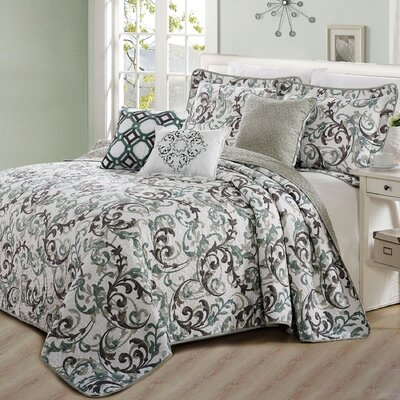 Millstadt 6 Piece Coverlet Set Size: King