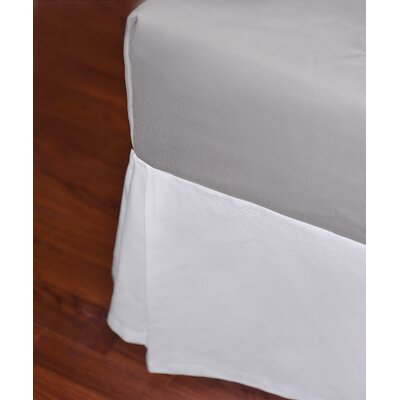 Amber Cotton Canvas Drop Bed Skirt Size: Queen