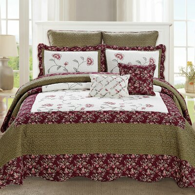 Maribel 7 Piece Quilt Set Size: King