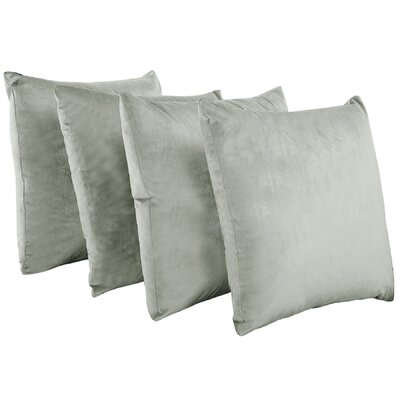 Eason Supersoft Shell Pillow Cover Color: Lilac Gray