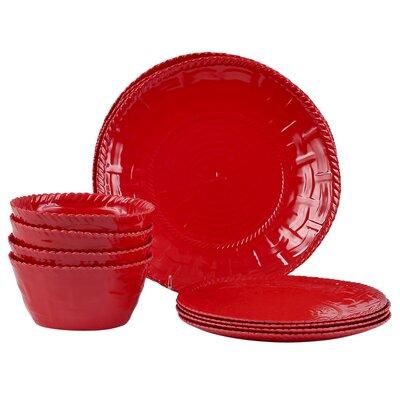 Woven Melamine 12 Piece Dinnerware Set