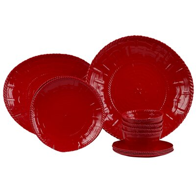 Woven 14 Piece Dinnerware Set 50012