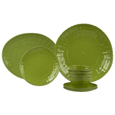 Woven Melamine 14 Piece Dinnerware Set 50014
