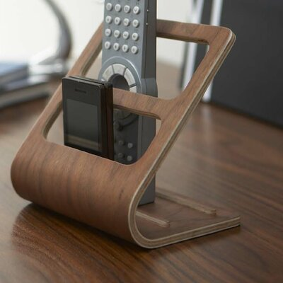 Rin Remote Control Organizer Rack Finish: Brown