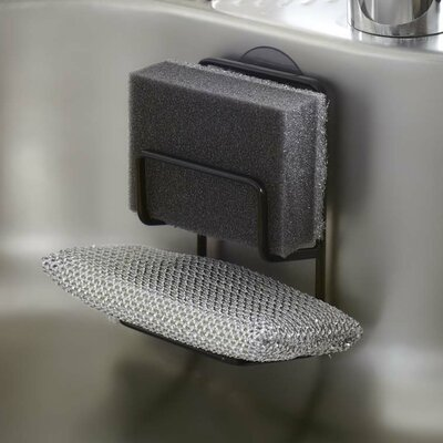 Tower Double Sponge Holder Finish: Black