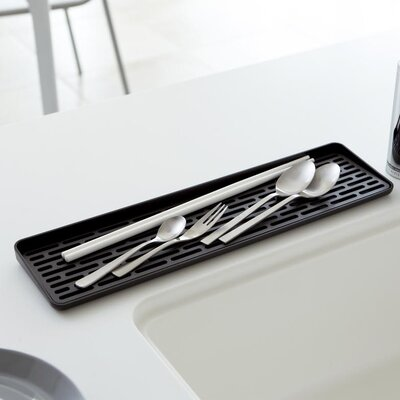 Tower Sink Side Glass Drainer Finish: Black