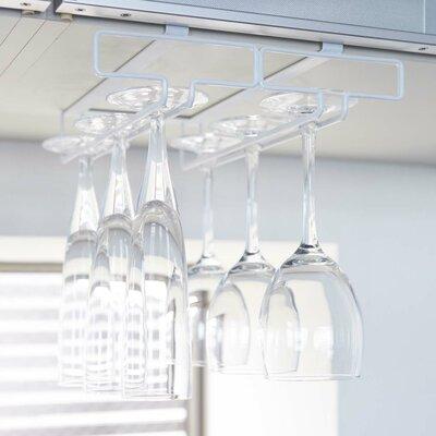 Tower Hanging Wine Glass Rack Finish: White