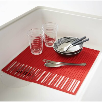 Aqua Sink Mat Finish: Red