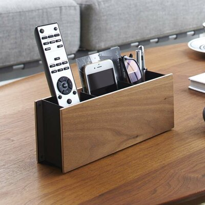Multimedia Remote Control Holder Finish: Brown