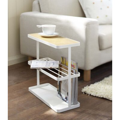 Tower End Table Color: White