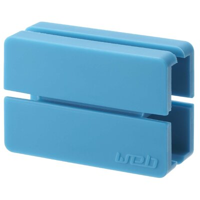 Web Cord Wrap Size: 0.9 H x 2.4 W x 1.6 D, Color: Blue